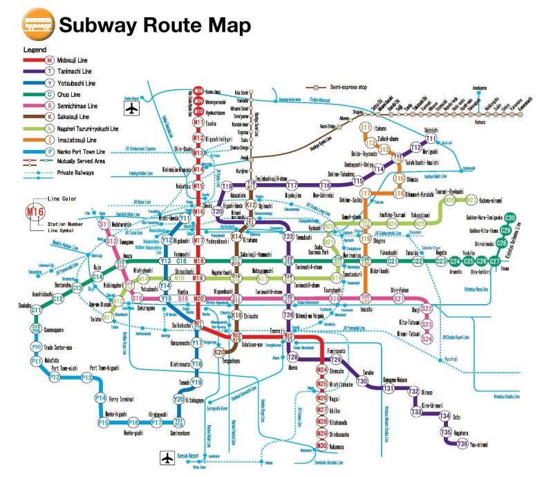 osaka subway map