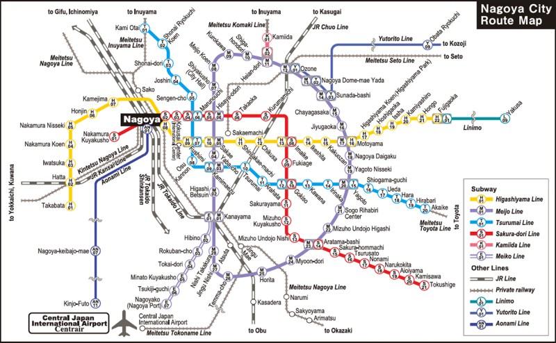 Nagoya Subway map
