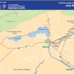 kawaguchiko five Fuji Lake area map bus route | เส้นทาง รถบัส ฟูจิ คาวากุจิโกะ